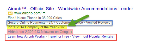 Ad Extensions - Example123