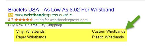 Ad Extension Sitelinks