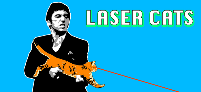 LASER CATS Annihilate Google Sidebar Advertising!